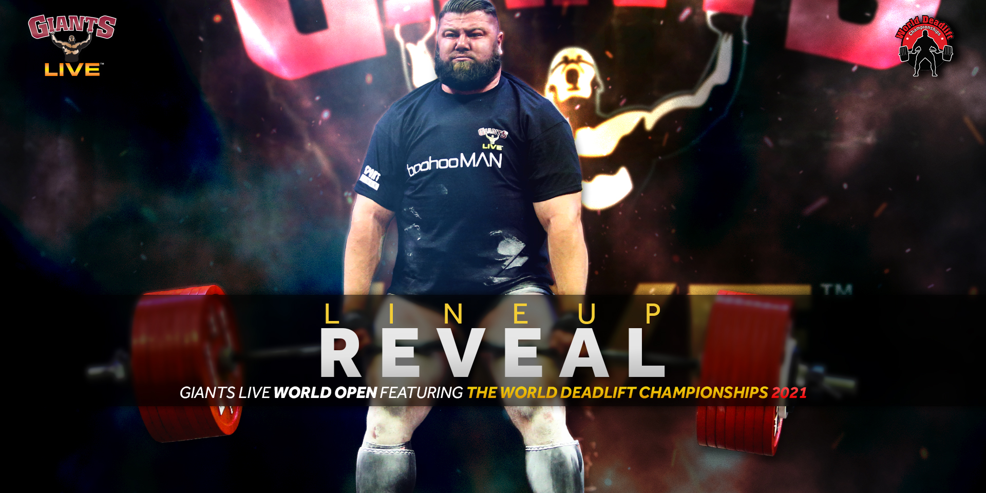 The Giants return to Manchester in 2021 for the Giants Live World Open including the World Deadlift Championships!