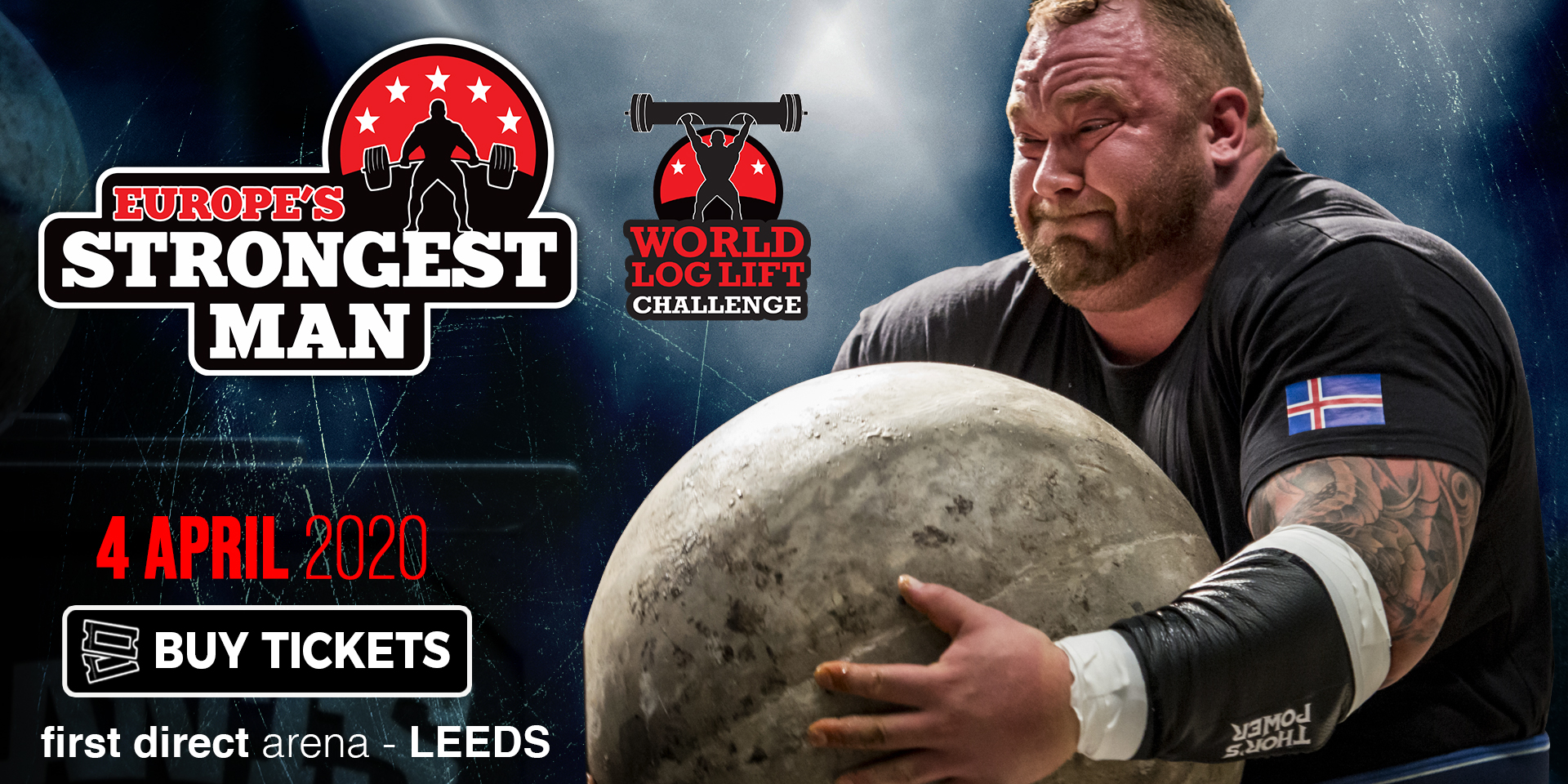 Come and see the BIGGEST live strongman show in the world! Europe's Strongest Man is returning to First Direct Arena, Leeds in 2020.