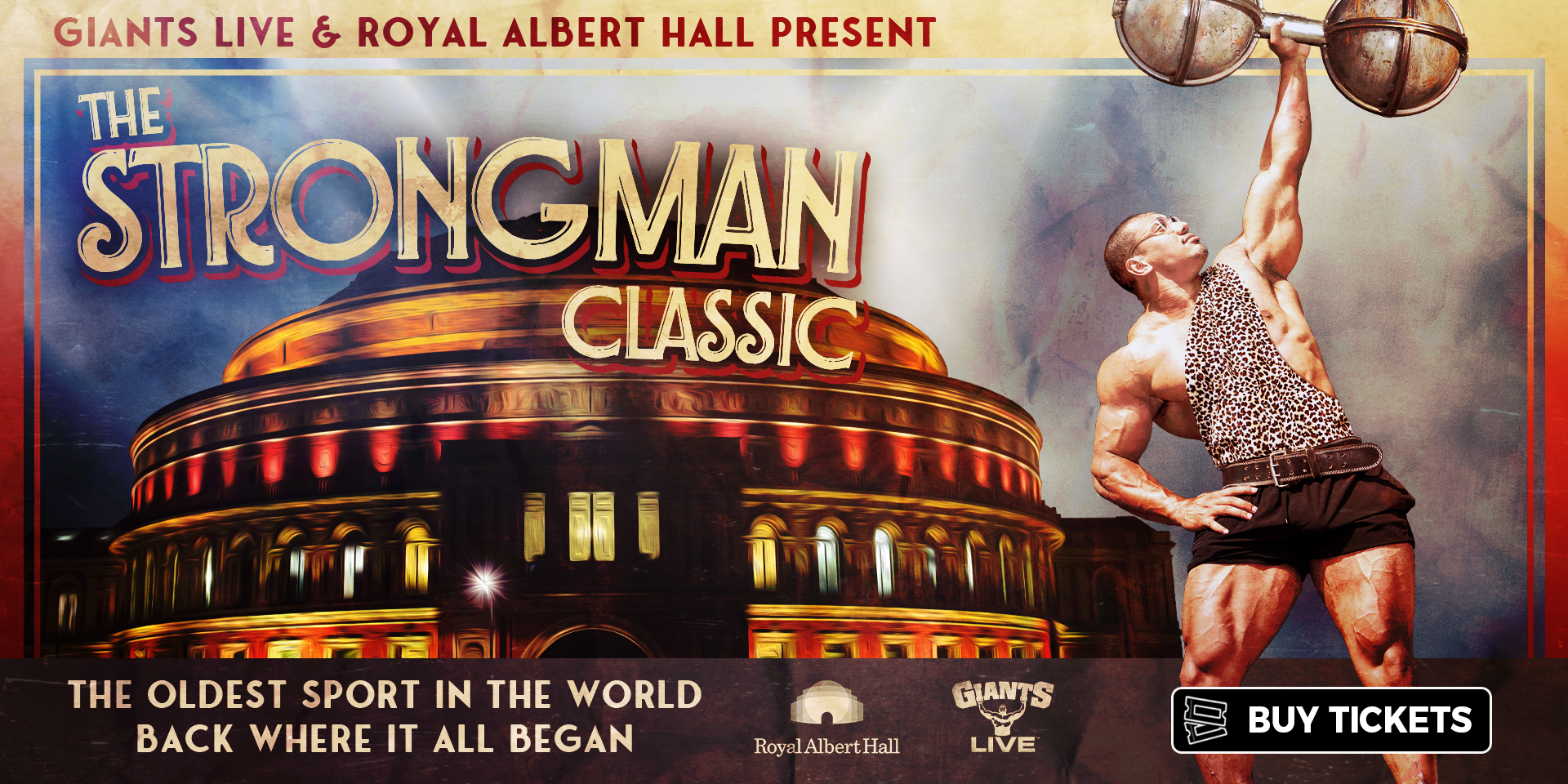 The oldest sport in the world, back where it all began! Giants Live and Royal Albert Hall present The Strongman Classic.