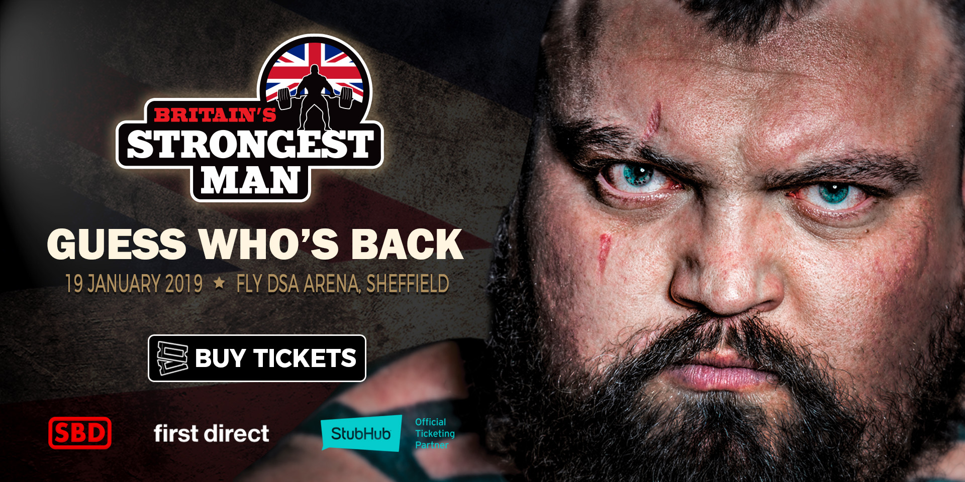 Eddie Hall returns to Sheffield Arena to claim his 5th Britain's Strongest Man title!