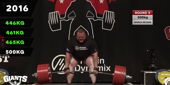 VIDEO: Benedikt Magnússon's evolution of deadlifting #501KG